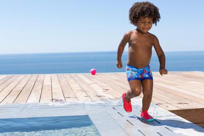 حذاء حمام السباحة للأولاد Aquadots - أحمر