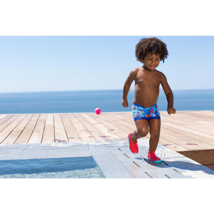 男童泳池鞋AQUADOTS - 紅色藍色