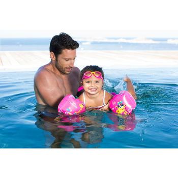 11至30 kg兒童游泳臂圈 - 「粉色紅鶴」印花