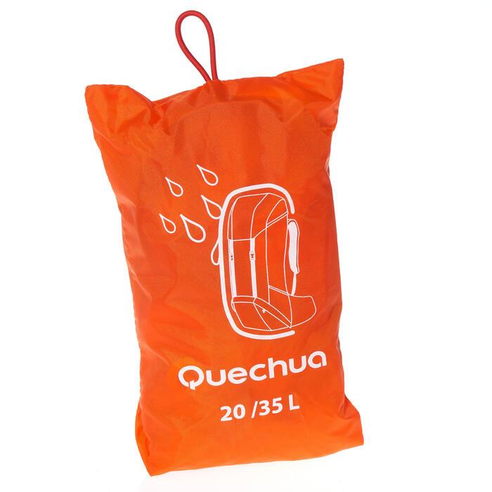 Funda Lluvia Impermeable Mochila de Montaña y Trekking Quechua 20 a 35 Litros
