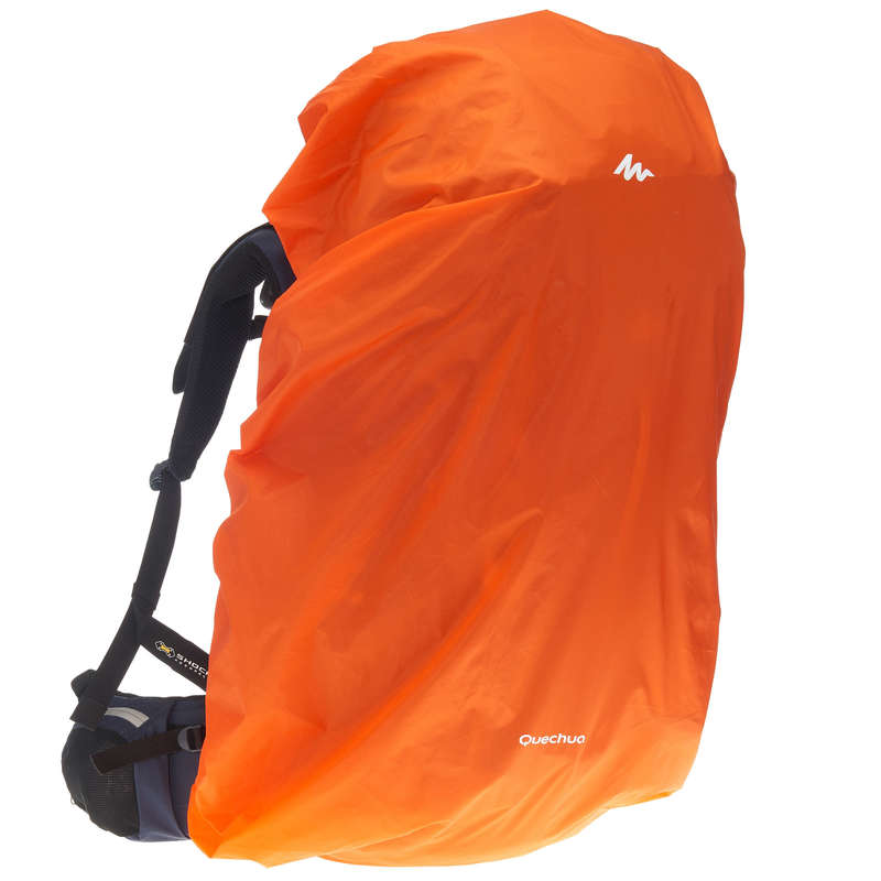 BACKPACK ACC, ORGANIZER, SECURITY ACC MT Hiking - Rain Cover for Large Backpacks - Orange FORCLAZ - Hiking Bags
