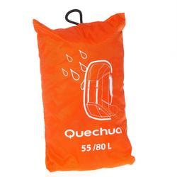 Funda Lluvia para Mochila de Montaña y Trekking 55 a 80 Litros Naranja