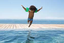 Zwemboxer Titou voor jongens zebro - 714130