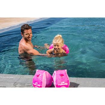 Schwimmflügel-Gurt Schwimmgürtel Tiswim Giraffe 15–30kg Kinder rosa