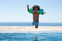 Zwemboxer Titou voor jongens zebro - 714143