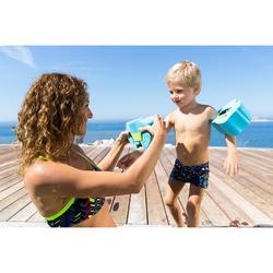 Peuterzwembroek boxermodel donkerblauw met vissenprint