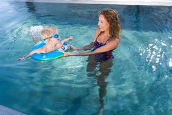 Blauwe zwemband 51 cm met zebraprint en twee luchtkamers kinderen 11-30 kg - 714172
