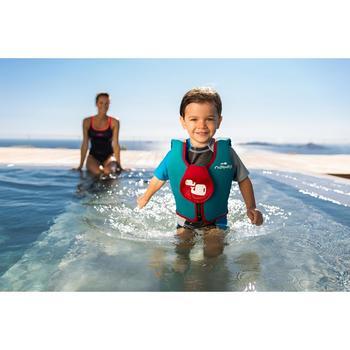 Zwemvest in schuim blauw/rood