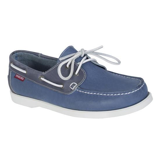 Leren bootschoenen CR500 voor heren donkerbruin - 716577