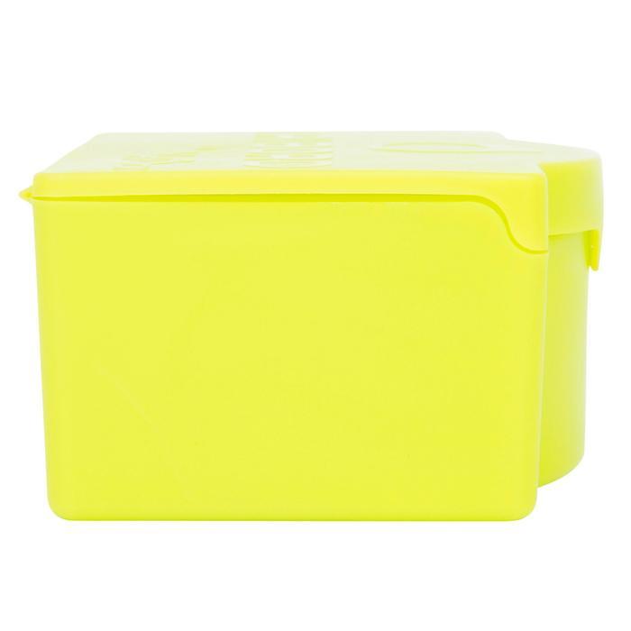 Box für Surf-Wachs mit Kamm grün