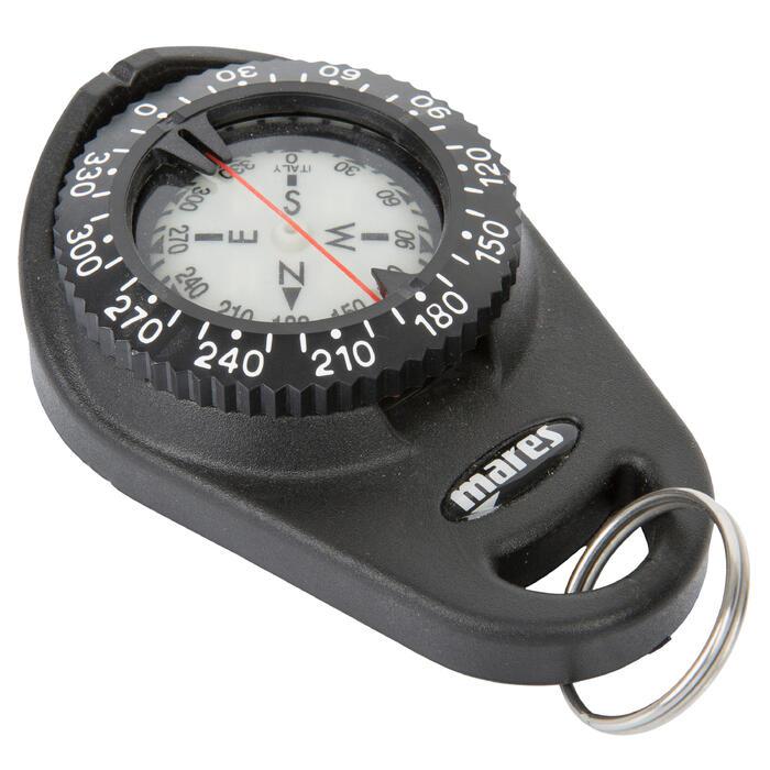 Duikkompas met clip om te bevestigen aan je vest - 716909