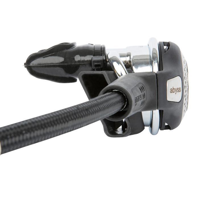 DIN ademautomaat Abyss 22 zwart/zilver - 716920