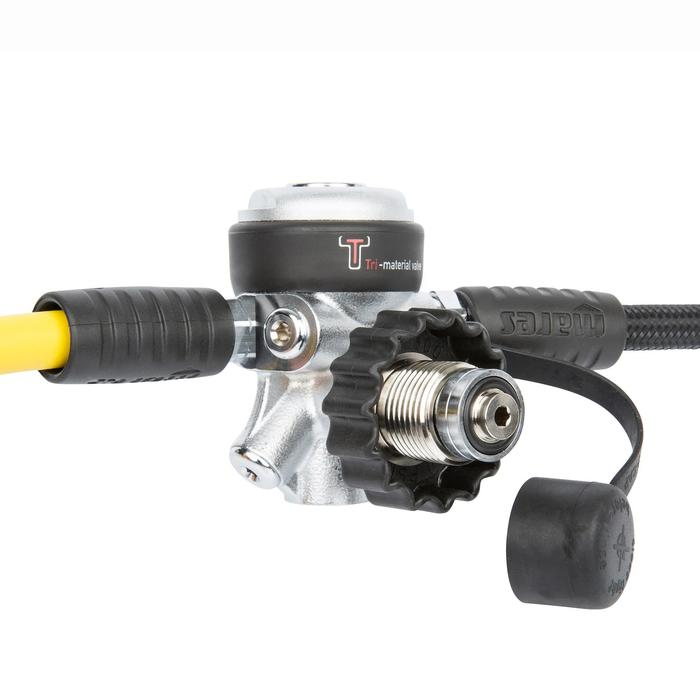 Regulador Buceo Mares ABYSS 22 DIN Negro/Plata