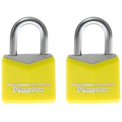 2 Gepäckschlösser + Schlüssel 30mm gelb