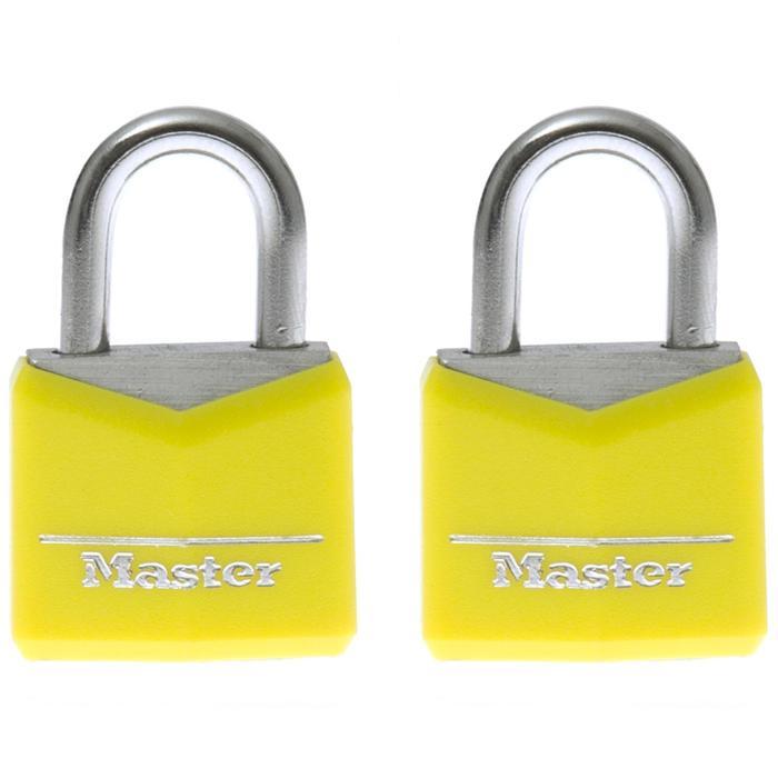 Candados Senderismo Master Lock 30 MM Amarillo 2 Candados 2 Llaves Viaje