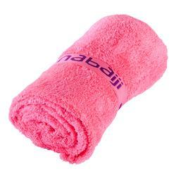 Toalla de microfibra ultrasuave rosa fluorescente, talla L 80 x 130 cm