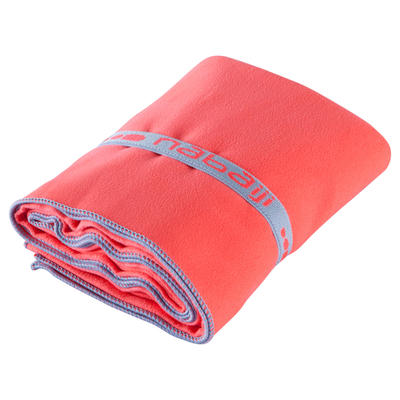 """מגבת מיקרופייבר מידה L 80 X 130 ס""""מ - ורוד"""