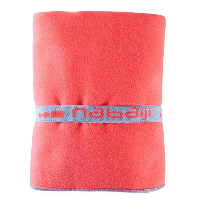 Compacte microvezel handdoek oranje maat L 80 x 130 cm