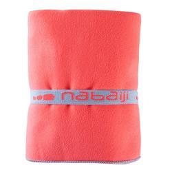 Serviette de bain microfibre orange taille L 80 x 130 cm