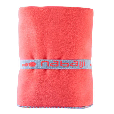 Compact microfibre towel size L 80 x 130 cm - Orange
