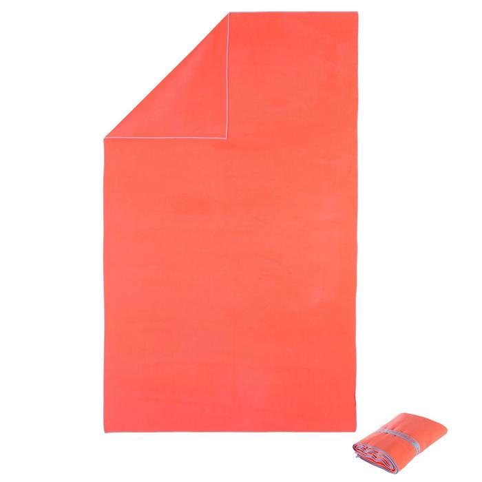 Toalla microfibra naranja L