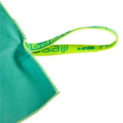 Zeer compacte microvezel handdoek cinablauw maat L 80 x 130 cm - 717060