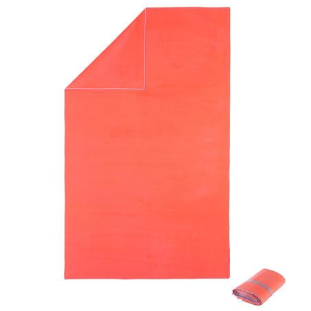 Serviette de bain microfibre orange taille XL 110 x 175 cm