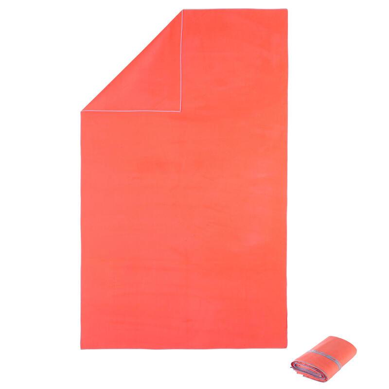 Toalha de natação microfibra Laranja Tamanho XL 110 x 175 cm
