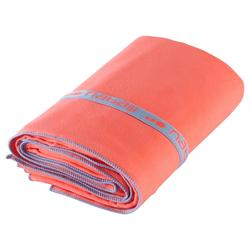 Serviette microfibre ultra compacte orange taille XL 110 x 175 cm