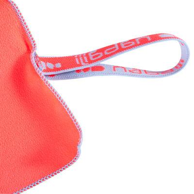 Serviette microfibre ultra compacte orange taille XL 110 x 175 cm
