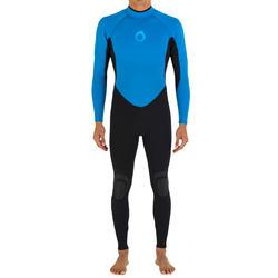 Heren surfpak 100 neopreen 2/2 mm blauw - 7171