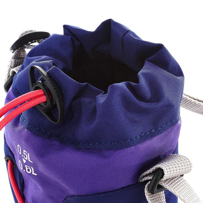 Bolsa isotérmica para cantil de caminhada 0,5 a 0,6 litro violeta