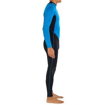 Heren surfpak 100 neopreen 2/2 mm blauw