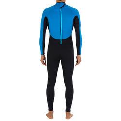 Heren surfpak 100 neopreen 2/2 mm blauw - 7177
