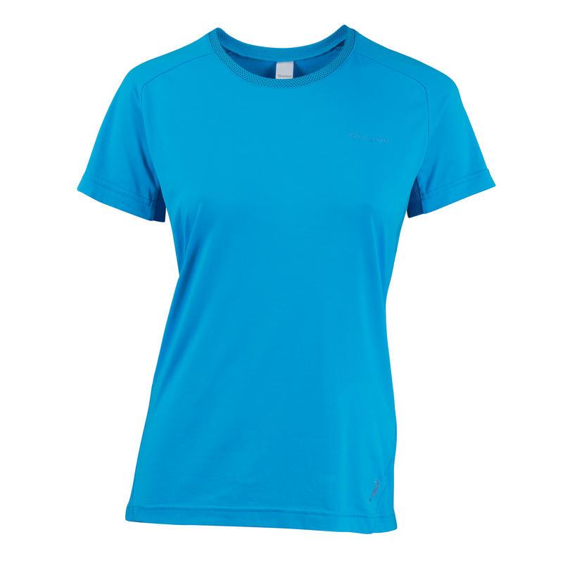 Techfresh 50 Women's Short-Sleeved Hiking T-Shirt - Turquoise