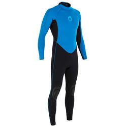 Heren surfpak 100 neopreen 2/2 mm blauw - 7179