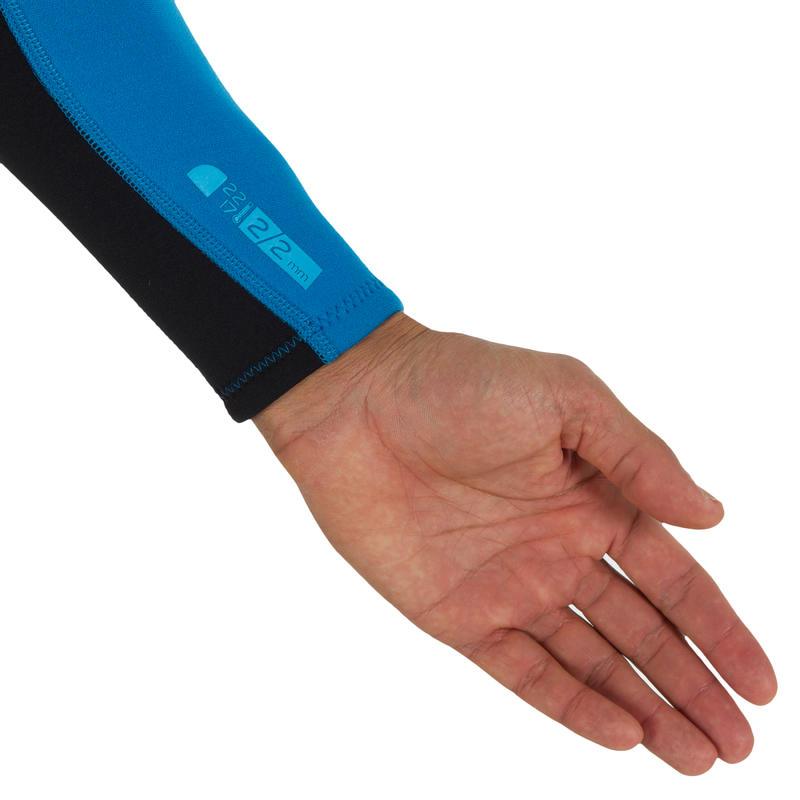 Combinaison SURF 100 Néoprène 2/2 mm Homme Bleu