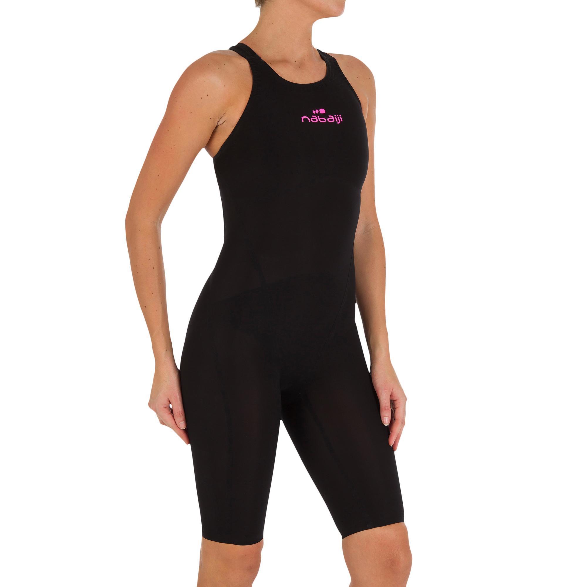 Combinaison de natation femme noire nabaiji - Maillot de bain piscine decathlon ...