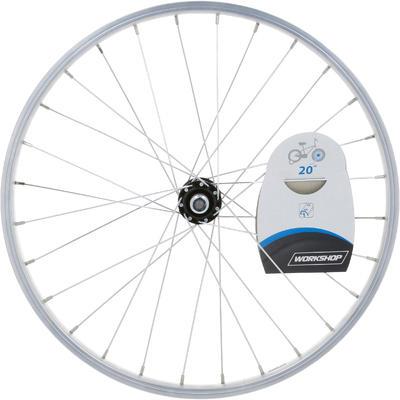 """Kids' Bike Wheel 20"""" Front Single Wall Rim - Silver"""