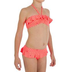 Bandeaubikini met ruches Dots Granatina voor meisjes - 718455