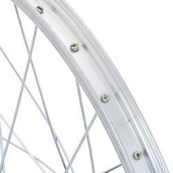 Voorwiel voor kinderfiets van 20 inch enkelwandig zilver