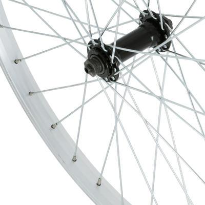 """Kids' Bike Wheel 24"""" Front Single Wall Rim - Silver"""