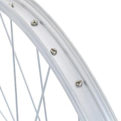 "Rueda Bicicleta Niño 24"" Trasera V-Brake Piñón Libre Pared Simple Plateada"