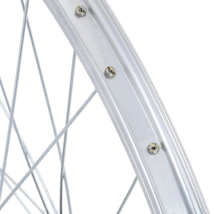 Voorwiel voor kinderfiets van 24 inch enkelwandig zilver