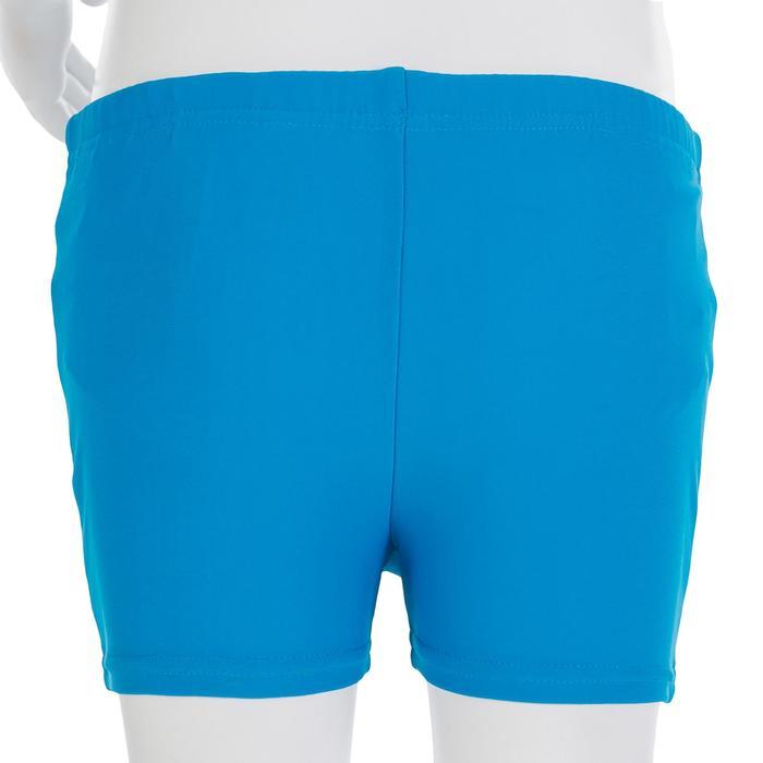 Boxer de bain lavable bleu qui évite la dispersion des selles dans l'eau.