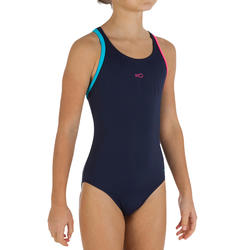 Complete zwemset Leony+ voor meisjes blauw/roze - 719832