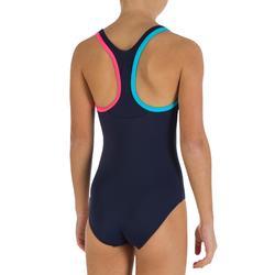 Schwimm-Set Leony+ Mädchen blau Badeanzug, Brille, Badekappe, Handtuch, Tasche