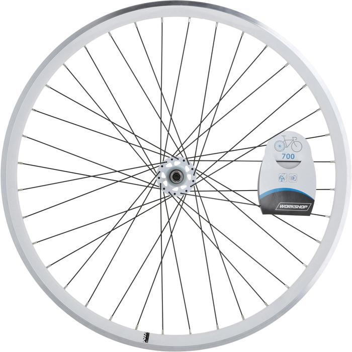 ROUE FIXIE 700 BLANC ARRIERE