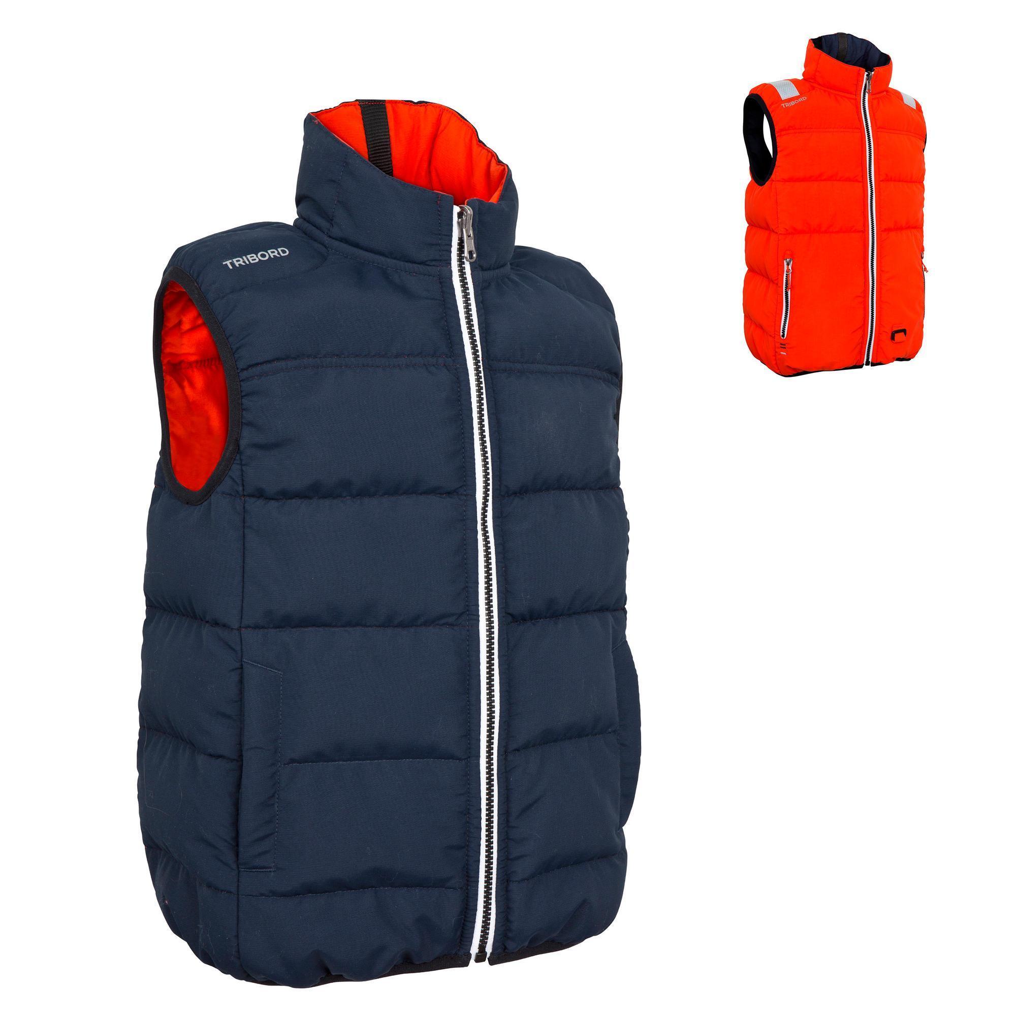 izeber children 39 s reversible 50n sailing flotation jacket dark blue tribord. Black Bedroom Furniture Sets. Home Design Ideas