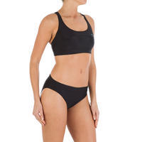 Leony Women's Bikini Briefs Swimsuit Bottoms - Black